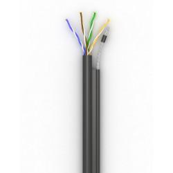 Витая пара кабель Step4Net UTP cat 5E, самонесущий PЕ CСА 0,51, 500м