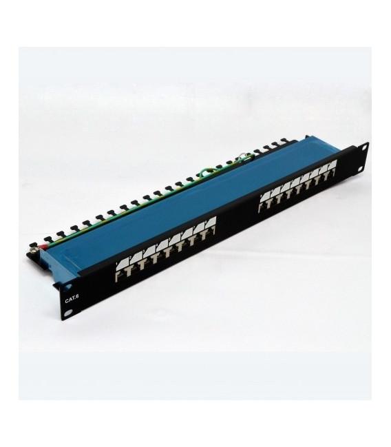 "Патч-панель 19"" 16xRJ-45 FTP, кат. 6, dual type"