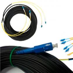 Внешний оптический патч-корд 4 волокна 25м. Длинный оптический шнур кабель с концами FC, SC, LC, ST