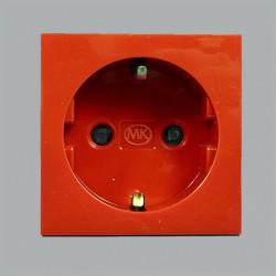 Модуль электрический одинарный красный MK Electric, 220В, 50х50 мм