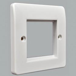Рамка MK Electric для установки 1 модуля 50х50 , 86x86 мм, белая