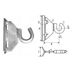 Siсame Крюк GHSO 12 для круглых и прямоугольных опор