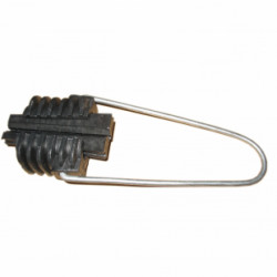 """Анкерный зажим Н10, кабельная арматура Premium натяжной зажим для кабеля типа """"8"""" с несущим элементом трос или проволока"""