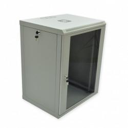Серверный шкаф настенный 15U эконом, 600x500x773 мм, серый