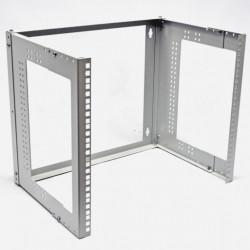 """Кронштейн настенный 19"""" 9U, глубина 280-480 мм, серый"""