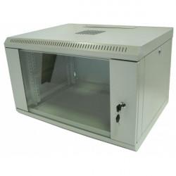 Hypernet Шкаф настенный 4U 600x300 металл/стекло разборной