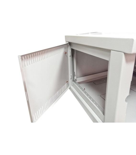 Шкаф настенный 9U 600x600 Дверь стекло