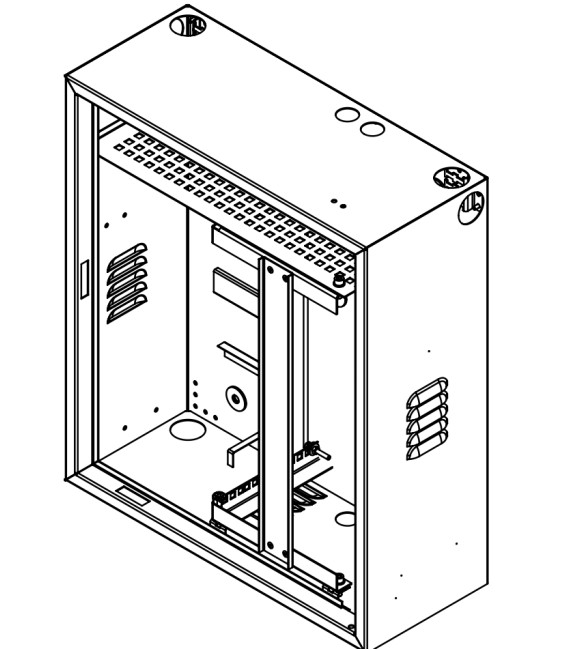 """19""""шкаф антивандальный цельносварной с поворотной рамой"""