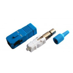 Коннектор оптический (собранный) SC simplex SM (PC), 2мм, черный