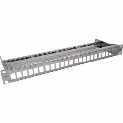 """Corning Патч-панель для 24 модулей Keystone, 1U, 19 """", с кабельным организатором, сталь"""
