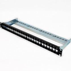 """Corning Патч-панель для 24 модулей xs500 Keystone, 1U, 19 """", с кабельным организатором"""