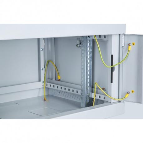 Шкаф настенный 12U 600x600 Дверь стекло