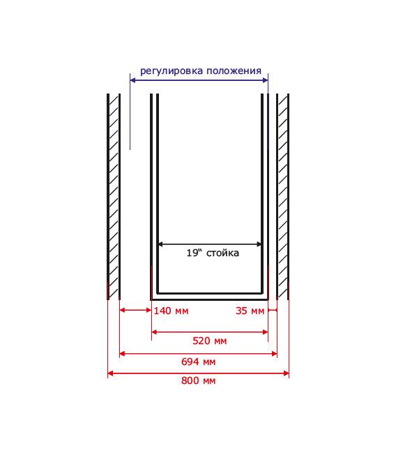 Шкаф с кондиционером и мониторингом 42U