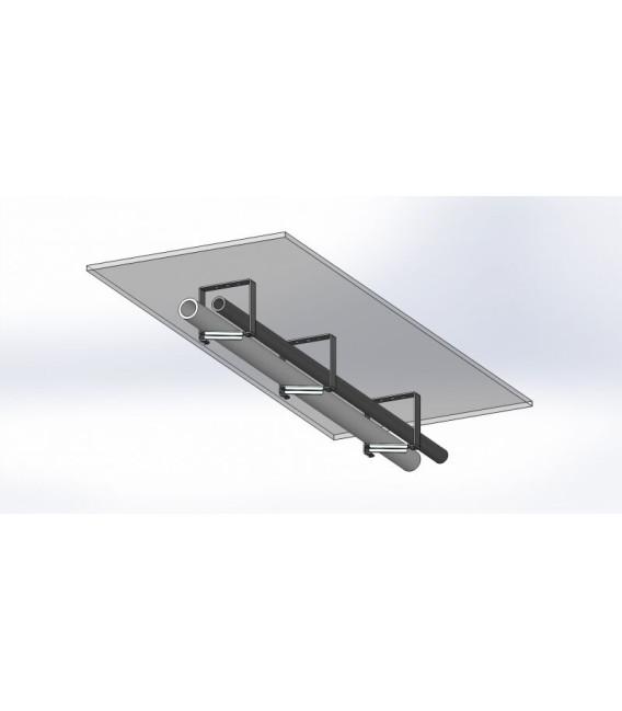 Хомут с поворотной рамкой 100х50 серый