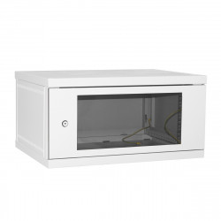 Шкаф настенный 6U 600x450 Дверь стекло
