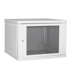 Шкаф настенный 9U 600x450 Дверь стекло