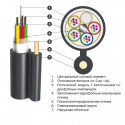 Оптический кабель ОПТс 4кН 72 волокна