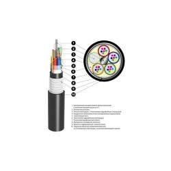 Кабель оптический ОБгПО 2,7кН 8 волокон с жилами питания ОБгПо-8А5(1х8+2)-2,7