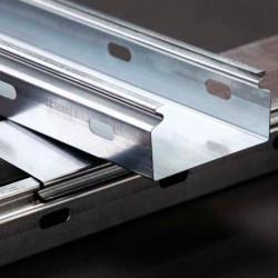 150/50 мм Лоток кабельный  производство Украина сплошной оцинкованный, длина 3 метра, дешевый и качественный кабельный лоток