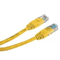 Патч-корд 1м желтый UTP RJ45 кат.5Е