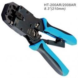 Инструмент для обжимания коннекторов 8C8P, 6PxC, 4PxC, профессиональный, с трещеткой