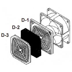 PB-12D 120x120мм Решетка пластиковая с фильтром