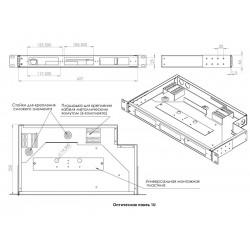 1U-24 Full с кассетой Оптическая панель СКС ODF