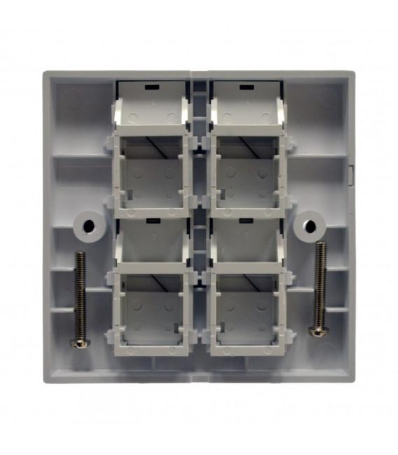 Рамка 86х86 под четыре модуля KeyStone, со шторкой