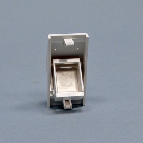 Вставка 50х25 под модуль Keystone, наклонная 45°, белая, EPNew