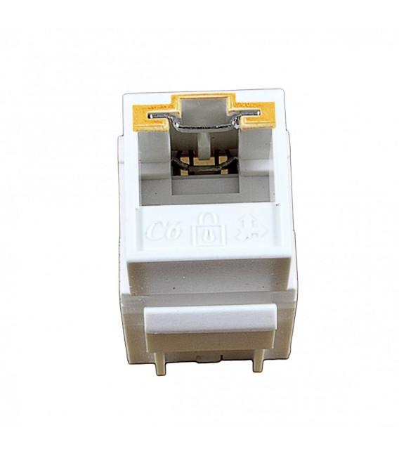 Модуль KeyStone RJ45 UTP, кат. 6, 110, Slim, W - 16.6 мм, белый, под ключ