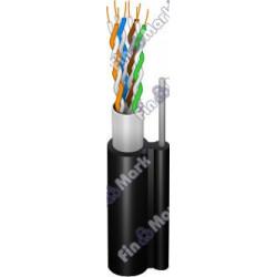 Витая пара кабель FinMark FinMark FTP кат 5е, PE, самонесущий черный, 500м